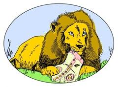 lion eating catholic
