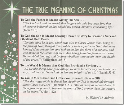 True meaning of Christmas 20001