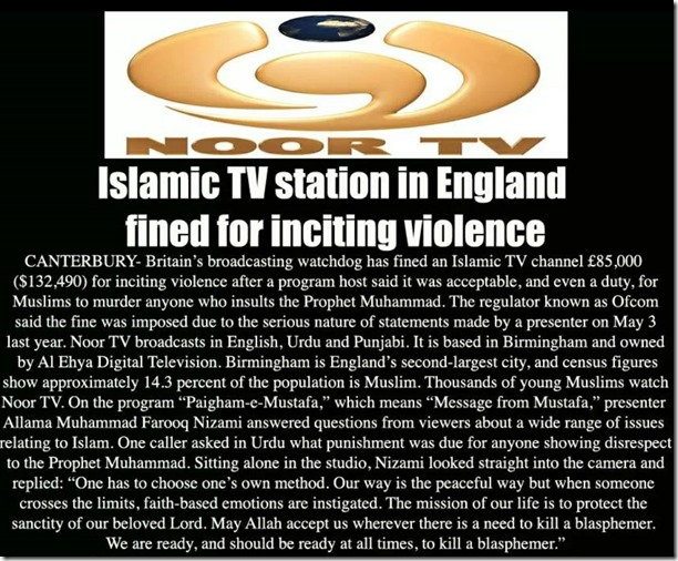 Islamic radio station fined