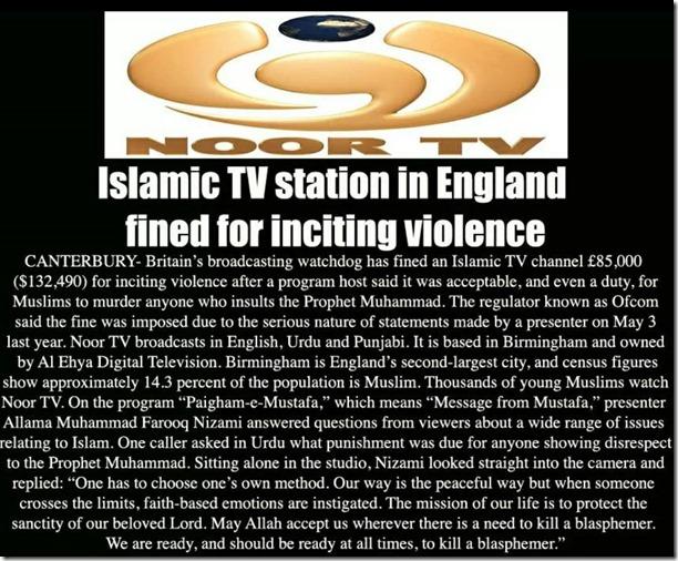 Islamic radio station fined