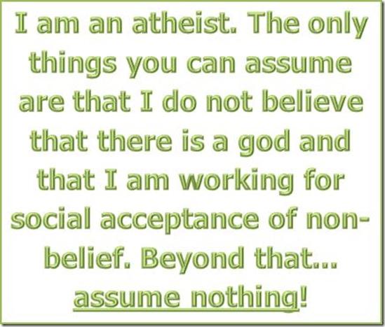 I am an atheist