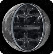 spaceship moon 1