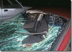windshield ejection