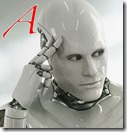 Robot thinking A