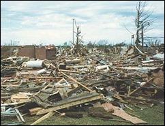 tornado rubble